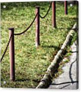 low fence Chain Acrylic Print