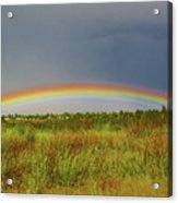 Low Lying Rainbow Acrylic Print