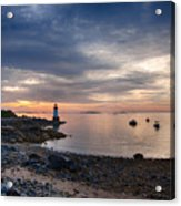Low Tide At Salem's Lighthouse Acrylic Print