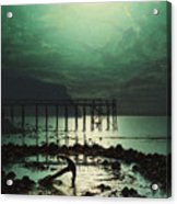 Low Tide By Moonlight Acrylic Print
