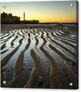 Low Tide On La Caleta Cadiz Spain Acrylic Print