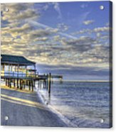Low Tide Sunrise Tybee Island Acrylic Print