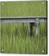 Lowcountry Dock Over Marsh Grass Acrylic Print