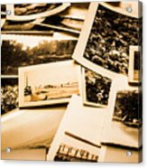 Lowdown On A Vintage Photo Collections Acrylic Print