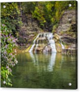 Lower Falls Of Enfield Glen Robert H. Treman State Park Acrylic Print