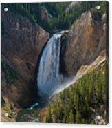 Lower Falls Of Yellowstone River Acrylic Print