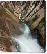 Lower Falls Rainbow Acrylic Print