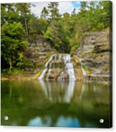 Lower Falls Reflection Of Enfield Glen Acrylic Print