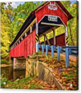 Lower Humbert Covered Bridge 2 - Paint Acrylic Print