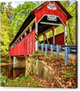 Lower Humbert Covered Bridge 2 Acrylic Print