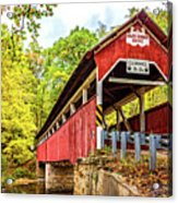 Lower Humbert Covered Bridge 3 Acrylic Print