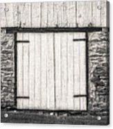 Lower Level Door To An 1803 Amish Corn Barn  -  1803cornbarnblwh172868 Acrylic Print