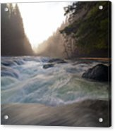 Lower Lewis River Falls During Sunset Acrylic Print