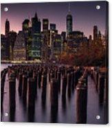 Lower Manhattan At Night Acrylic Print