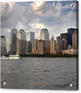 Lower Manhattan From The Hudson Acrylic Print