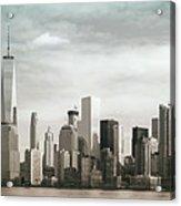 Lower Manhattan Panoramic Skyline Acrylic Print