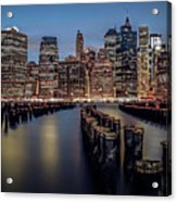 Lower Manhattan Skyline Acrylic Print by Eduard Moldoveanu