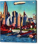 Lower Manhattan Skyline New York City Acrylic Print