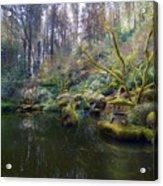 Lower Pond At Portland Japanese Garden Acrylic Print