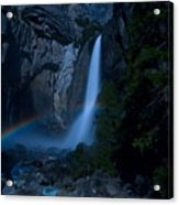 Lower Yosemite Falls Moonbow Acrylic Print