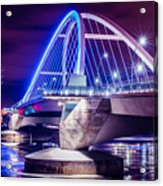 Lowry Bridge @ Night Acrylic Print