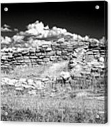 Lowry Pueblo Ruin Black And White Acrylic Print