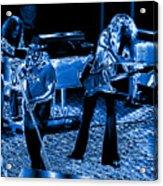 Ls #40 Enhanced In Blue Acrylic Print