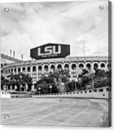 Lsu Tiger Stadium -bw Acrylic Print
