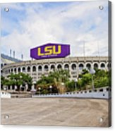 Lsu Tiger Stadium Acrylic Print by Scott Pellegrin