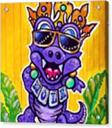 Lt Aka Nola Gator Acrylic Print by Terry J Marks Sr