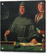 Luca Pacioli, Franciscan Friar Acrylic Print