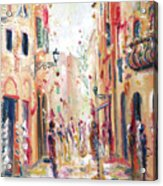 Lucca Street Acrylic Print