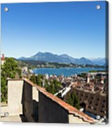 Lucerne Old Town In Switzerland Acrylic Print