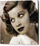 Lucille Ball By Mary Bassett Acrylic Print