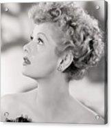 Lucille Ball Portrait, 1940s Acrylic Print by Everett
