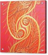 Lucknow's Chikangari Acrylic Print