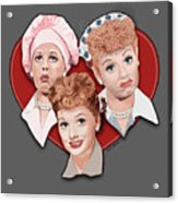 Lucy Expressions Gry Acrylic Print