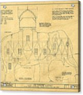Lucy The Elephant Building Patent Blueprint  Acrylic Print