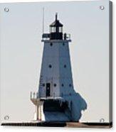 Ludington Lighthouse With Ice Acrylic Print