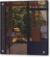 Ludmila In The Garden Chernomor On The Subject Of The Poem Of Pushkins Ruslan And Lyudmila 1897 Konstantin Andreevich 1869-1939 Somov Acrylic Print