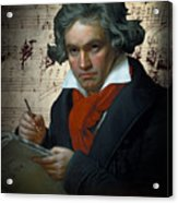 Ludwig Van Beethoven 1820 Acrylic Print