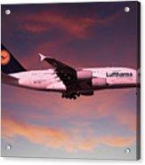 Lufthansa Airbus A380 D-aimh Acrylic Print