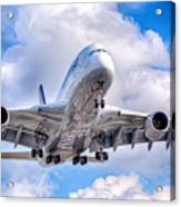 Lufthansa Airbus A380 In Hdr Acrylic Print