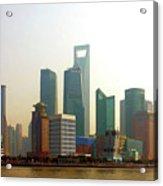 Lujiazui - Pudong Shanghai Acrylic Print by Christine Till
