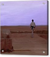 Luke Skywalker Tatooine Sunset Acrylic Print