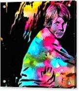 Luke Skywalker Paint Splatter Acrylic Print