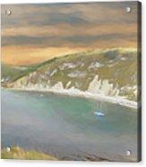 Lulworth Cove Panorama Acrylic Print