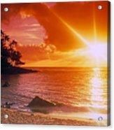 Lumahai Beach Sunset Acrylic Print
