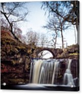Lumb Falls Panoramic Acrylic Print