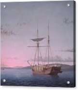 Lumber Schooners At Evening On Penobscot Bay By Fitz Henry Lane, 1863 Acrylic Print